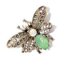 Women Cute Crystal Rhinestone Honey Bee Insect Brooch Pin Charm Jewelry Party