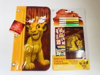Lion King Simba Pencil Crayon Pouch w/ Zipper for 3 Ring Folder Activity Set