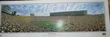 Michigan Stadium Lithograph Autographed by 32 greats w Anthony Carter Thomas