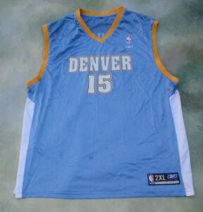 Reebok NBA Denver Nuggets Carmelo Anthony #15 Jersey Size 2XL.