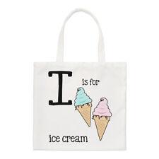 Lettre I est pour Crème Glacée PETIT SAC FOURRE-TOUT - Alphabet drôle épaule