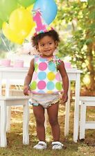 Mud Pie I'm One Birthday Pinafore and Bloomer Set with Removable Hair Clip