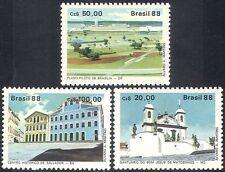 Brasil 1988 UNESCO // Iglesias/edificios/Arquitectura/Heritage 3 V Set (n27644)