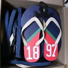 RUGBY ASSN LOT of 12 PAIR FLIP FLOPS 1897 RED BLUE NEW RESALE WHOLESALE