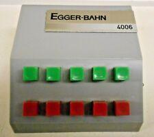 Egger / 4006.011 / Stellpult - 5 Schaltkontakte / technisch ok / erweiterbar