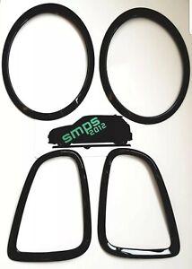 Mini R56, R57, R58, R59 Front & Rear Light Covers Gloss Black 2006 -2013
