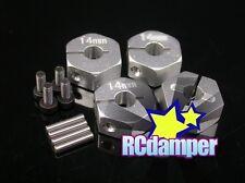 ALUMINUM 14MM x 7MM HEX DRIVE ADAPTER S 4PCS AXIAL 1/10 WRAITH SCX10 AX10 SCX-10