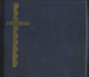 "Scott Cover Album Blue Padded Binder 10"" x 9-1/2"" FREE U.S. Shipping w/$35 Order"