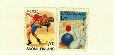 Finland #752-3 used wresling, bowling