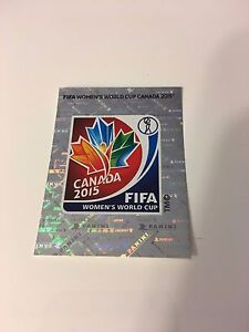 PANINI WORLD CUP 2015 WOMENS WC SHINY BADGES EMBLEMS STICKERS CHOOSE FULL SET
