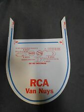 Vintage Cellucap Advertising Sanitary Paper Folding Visor Hat Cap RCA Van Nuys