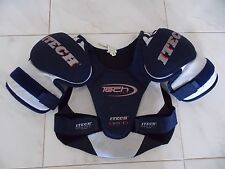 Techlite Itech Youth Hockey Pads Sp155-M Blue and White - Youth Medium
