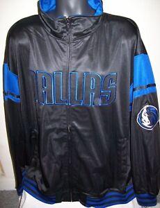 DALLAS MAVERICKS Track Jacket  BLACK  Thick Polyester 3X 4X 5X 2XT