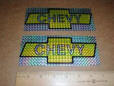 "7"" PAIR vintage Chevy corvette Nova Racing decal sticker yellow Prism 1970-1980s"