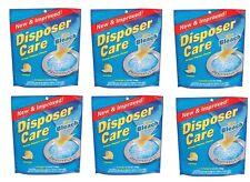 Lot of 6 -4pks DISPOSER CARE Sink Garbage Disposal Cleaner Lemon Scent DP06N-PB