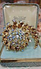 JULIANA spilla vintage cristallo rhinestone magnificent brooch brosche brosce