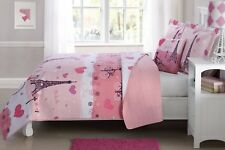 Fancy Linen 4pc Full Size Reversible Bedspread Paris Pink White New
