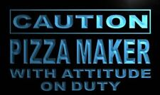 m617-b Caution Pizza Maker on Duty Neon Light Sign