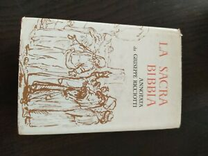 SACRA BIBBIA ANNOTATA DA GIUSEPPE RICCIOTTI 1958 con preghiere casa defunto F