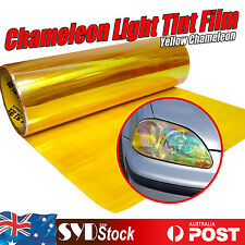 Chameleon Yellow Tint Film Wrap Car Fog Tail Headlight Cover Sticker 30 x 60CM