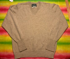 Marshall Fields Xl Cashmere Tan Brown V-Neck Sweater Pullover