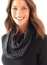 J. Jill - Luxurious 100% silk diamond dot silk infinity scarf - MSRP $59