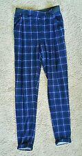 Hot Options soft check blue pants sz6 BNWOT free post D15
