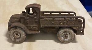 "Original Arcade 1930's Cast Iron Mack Ice Truck 7""  Hubley RARE!"