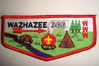 OA WAZHAZEE LODGE 366 OUACHITA AREA COUNCIL SCOUT PATCH BEAVER TEEPEE FLAP