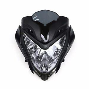 Fit BAJAJ PULSAR150 200 Motorcycle HeadLight Assembly Headlamp+Fairing Black