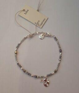 Biba Damen Crystal Armband  Silber Grau (467)