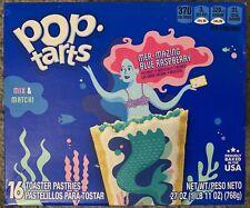 NEW KELLOGGS POP TARTS MER-MAZING BLUE RASPBERRY 27 OZ BOX 16 TOASTER PASTRIES