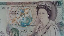 British Banknotes QE II 20 Pounds DHF Somerset 1982 w Prefix 15A, FINE Note
