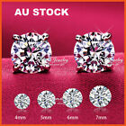 925 STERLING SILVER HALO ROUND LAB CT DIAMOND MENS LADIES GIRL STUD EARRING GIFT