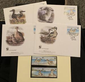 2009 Beach Thick Knee WWF FDC & Stamps MUH Vanuatu