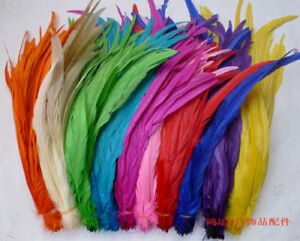 Wholesale! 10-2000 Pcs Beautiful Rooster Tail Feathers 12-14 Inches/30-35cm