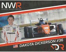 2017 Dakota Dickerson Newman Wachs Racing Mazda USF2000 postcard