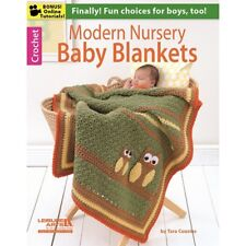 Crochet Pattern Book MODERN NURSERY BABY BLANKETS / Afghans ~ 6 Designs