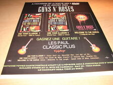GUNS N' ROSES - COMPETITION!!!!!!1!!FRENCH PRESS ADVERT