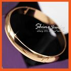 24K GOLD GF BA11 WOMENS ANTIQUE CHUNKY PLAIN SOLID ROUND COMFORT BANGLE BRACELET
