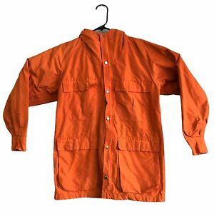 Vtg Sierra Designs 60/40 Parka Men's Full Zip Hooded Jacket Orange Size XS USA
