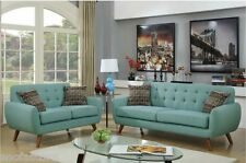 Retro Collection Modern Sofa & Loveseat Polyfiber Tufted Seating Sofa Couch New