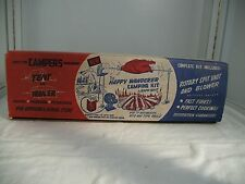 Vintage Roto Spit Battery Operated Rotisserie Happy Wanderer Camping Kit NOS USA