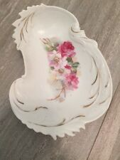 Antique Soap Dish Floral Rose Porcelain Victorian Shabby And Chic
