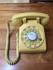 Vintage 1970s Yellow Western Electric Desk Rotory Dial Phone AT&T Bell Systems