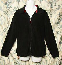 Woolrich Fleece Jacket Full Zip Mens Size XL Warm Up Jet Black