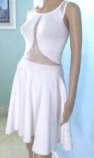 $178 NWT Marciano Dress White Stretch Crochet Sleeveless Empire Waist Summer S