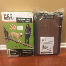 Pet Gear Travel-Lite Tri-Fold Pet Ramp Up To 200lbs Open Box Special See Pics