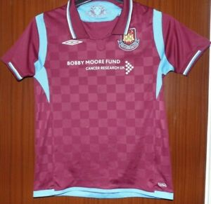 West Ham United Home Shirt 2009-2010 Kids Size MB Bobby Moore Fund World Post!