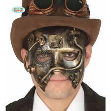 Hombres Oro Steampunk Máscara Gótico Victoriano Disfraz Baile De Máscaras